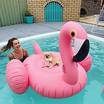 Riesiger Aufblasbar Flamingo Luftmatratze Aufblasbarer Flamingo Pool Floß Schwimmtier Schwimminsel Schwimmreifen Pool Spielzeug Wasserspielzeug Luftmatratze Wasser Strand Party Kinder Erwachsene 3