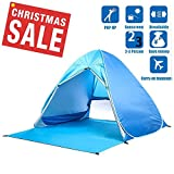 podofo Portable Breeze Easy Up Beach Zelt im Freien Automatik Pop Up Instant Cabana 2-3 Person Camping Angeln Anti UV Sun Shelter mit Vorhang & Tragetasche
