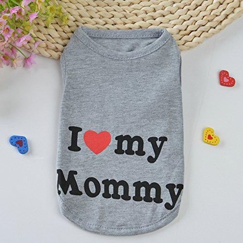Printed Puppy Shirt Hundebekleidung Weiche Weste Für Sommerbekleidung,Gray,L (Puppy Kostüme Baby)