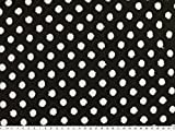 ab 1m: Topmodischer Strick-Jacquard, Punkte, schwarz-weiß, 150cm breit