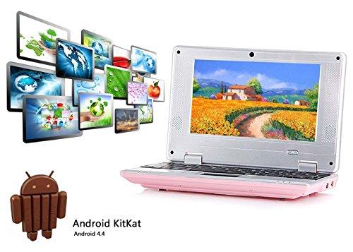 """Preisvergleich Produktbild 2017 Späteste 8GB Kinder Computer Netbook Notebook 7 """"VIA8880 mini Android 4.4 Laptop Netbook- HDMI -Wifi-Webcam-Best Weihnachtsgeschenk (Rosa)"""