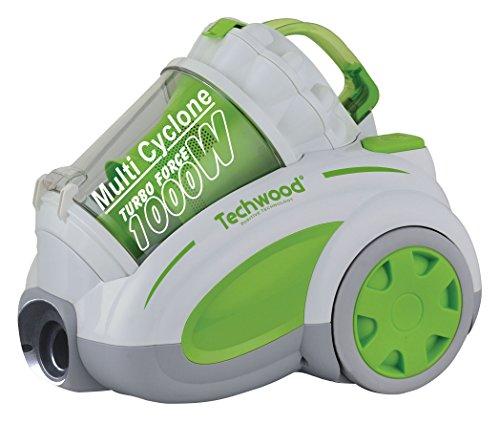 Techwood ECO-247 Aspirateur sans Sac Vert/Blanc 48 x 32,5 x 40,5 cm 1000 W