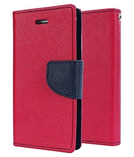 CEDO Polycarbonate Luxury Mercury Magnetic Lock Diary Wallet Style Flip Cover for Xiaomi Redmi 3S Prime (Pink)