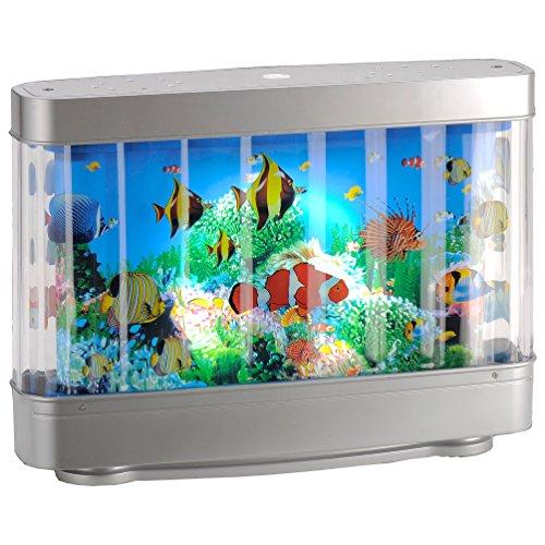 LED-Kinderleuchte Aquarium Effekt-Leuchte Fische LED-Stimmungsleuchte Dekolampe Rotationslampe 180 Lumen Dekoleuchte Kinderzimmer Lampe Motivlampe Fisch Aquarium-Rotationsleuchte Dekorationslampe nemo