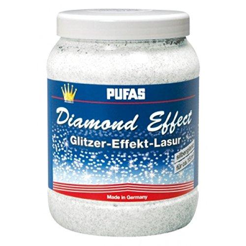 farbe glitzereffekt Pufas Diamond Effect Lasur Effektlasur 1,5L extrafeiner silberner Glitzer-Effekt