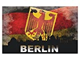 GRAZDesign 721666_57 Wandsticker Wandtattoo Poster Banner Welt für Wohnzimmer Berlin Deutschland (91x57cm)