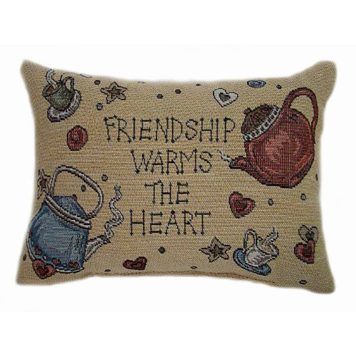 American Mills Teakettle Friends 10 by 13 Pillow, Set of 2