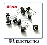 #1: 2 Pin Tactile Switch micro - Push to ON button (Pack of 10) by OL ELECTRONICS