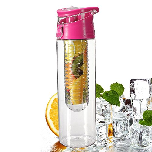 voberry-800-milliliter-pink-fruit-infusing-water-bottle-with-fruit-infuser-and-flip-lid-lemon-juice-