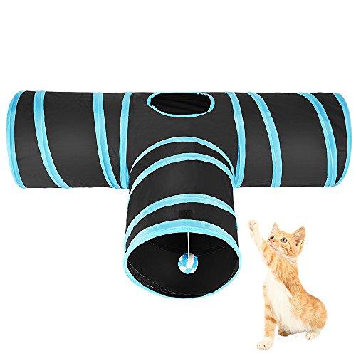 3 Túneles en uno, un interesante juguete para mascotas Tamaño del túnel: 80cm de largo, 30cm de ancho y 25cm de diámetro cuando está desplegado Se derrumba diseño para llevar fácil y almacenamiento, perfecto para todas las mascotas pequeñas Tomar la ...