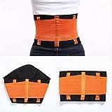 Cintura da allenamento regolabile per il fitness Fascia per lo stomaco dopo il parto materno Cintura di sostegno addominale unisex Sollievo dal dolore alla schiena e alla vita, Arancione,L