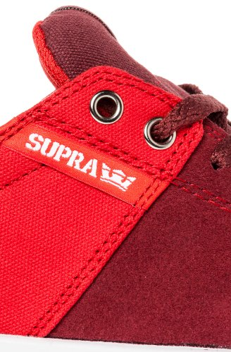 Supra Stacks, burgundy red white burgundy red white