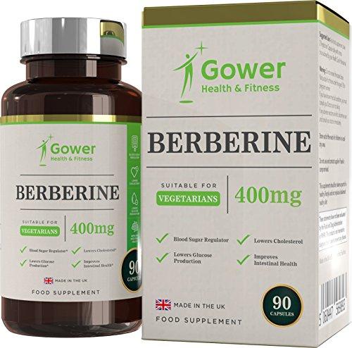 Berberina 400mg 90 Capsulas Vegetarianas - con Extracto de Pimienta Negra - Soporte Inmunitario Natural - Fabricado en R.U. en Instalaciones con Licencia ISO - Reembolso Garantizado (1 Botella)