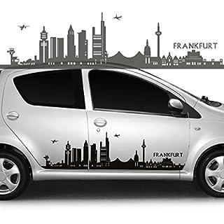 Autoaufkleber Autotattoo Skyline Stadt Frankfurt Schwarz KLEIN