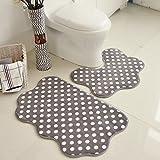 DXG&FX Badezimmer toilette u-typ ground mat absorption von wasser nicht sliping matten wasser-badematte-D 20x31inch