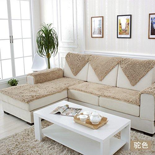 HYDBFKJUBVFU Plush Sofa Handtuch deckt,Chenille Sofa Kissen Aus Stoff Europäische Sofa abdeckungen für ledersofa Anti-rutsch-Sofa slipcovers-E 60x180cm(24x71inch) -