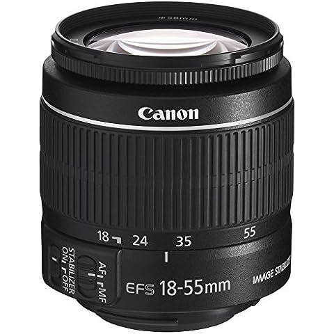 Canon EF-S 18-55 3.5-5.6 IS II - Objetivo para Canon (apertura f/3.5-5.6, zoom óptico 3x,estabilizador óptico),
