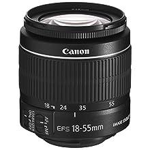 Canon Zoomobjektiv EF-S 18-55mm F3.5-5.6 IS II Universalzoom für EOS (58mm Filtergewinde, Bildstabilisator, Autofokus), schwarz