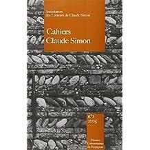 Cahiers Claude Simon, n° 1