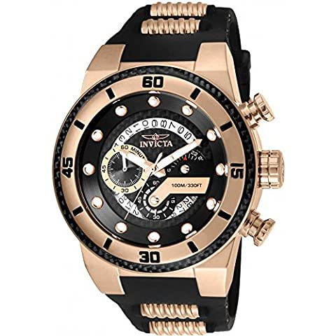 Invicta Men's 'S1 Rally' Quartz Stainless Steel and Silicone Casual Watch, Color:Two Tone (Model: