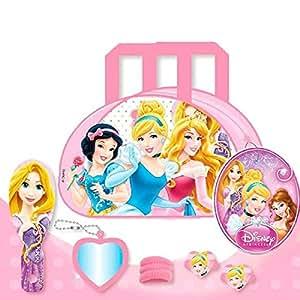 Set de beauté Petit Sac Princesse Disney + Petite Brosse a cheveux + Miroir + Barette + Chouchou