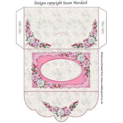 Confezione regalo/portafoglio, motivo: rose, per matrimoni/compleanni by Susan Murdoch