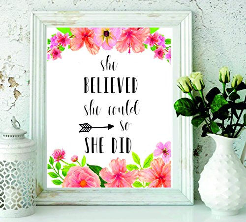 She Believed She could So She did stampabile – citazioni stampa – nursery Decor – regali per le donne – Wall Art – Inspirational quote – Black Arrow Wall Decor – regalo di laurea – stampabile regalo donna # wp-21