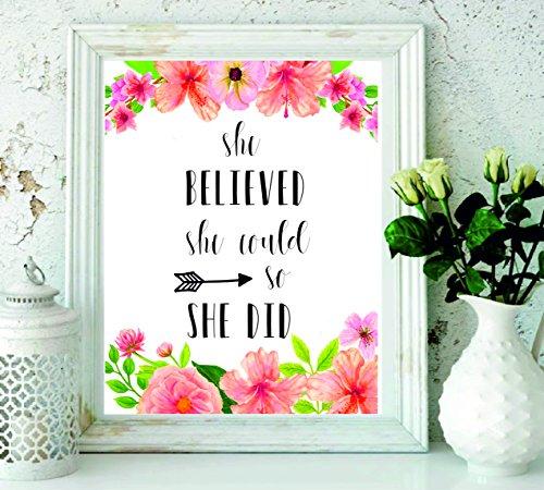She Believed She could So She did stampabile–citazioni stampa–nursery Decor–regali per le donne–Wall Art–Inspirational quote–Black Arrow Wall Decor–regalo di laurea–stampabile regalo donna # wp-21
