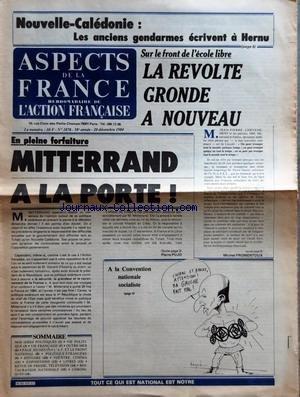 ASPECTS DE LA FRANCE [No 1878] du 20/12/...