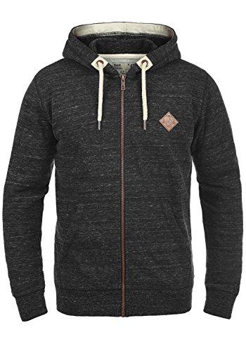 !Solid Craig Herren Sweatjacke Kapuzenjacke Hoodie mit Kapuze und Reißverschluss, Größe:XL, Farbe:Black (9000)