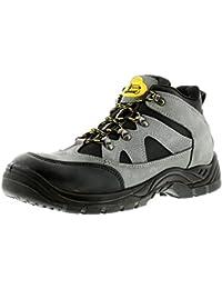 Nouvel Homme / Hommes / Unisexe Dentelle Noire Pérou Chaussures De Sécurité Tradesafe - Noir - Tailles 3-13 Go - Noir, 44