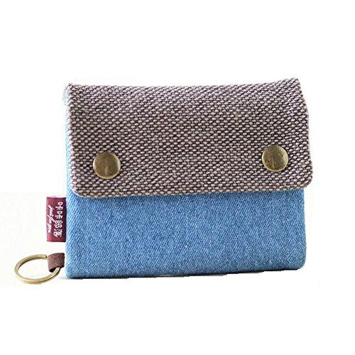 TININNA Vintage tela monete porta borsa piccolo cambiamento sacchetto della borsa Portafoglio Raccoglitore sacchetto chiaro Blu
