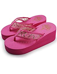 Pink, 7.5 : 2017 Shoes Women Sandal Lady's Women Platform Sandals Women Beach Home Flip Flops Slippers Sandals...