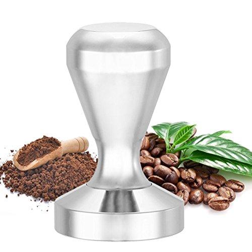 flintronic Kaffee Tamper, Kaffeestempel Küchen Zubehör Flat Base-Kaffeebohne Press Tool, Edelstahl 51mm