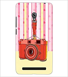 PrintDhaba Camera D-3908 Back Case Cover for ASUS ZENFONE 6 A601CG (Multi-Coloured)