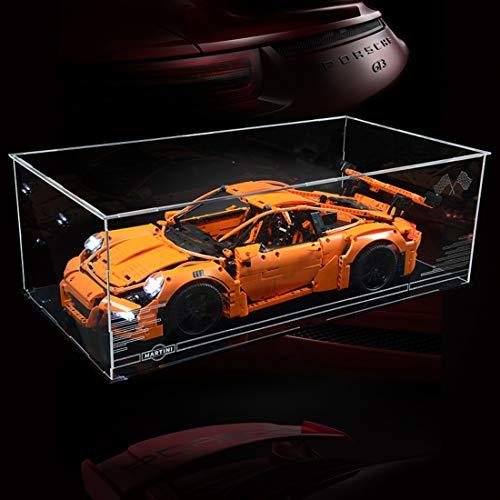 POXL Display Case Vitrine Für Lego 42056 Porsche 911 GT3 RS - Display Box Acryl Schaukasten (Lego Modell Nicht Enthalten)