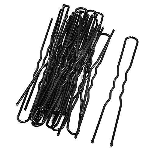 sourcingmap Métal Femme Cheveux Barrette U En Forme De Unique Dents Clips 20 Pièces Noir