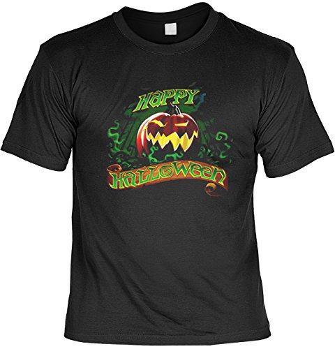 Halloween Grusel Tshirt Happy Halloween (Größe: XXL) Fb schwarz Größe XXL