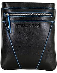Versace - Bolso al hombro de Otra Piel para hombre marrón negro