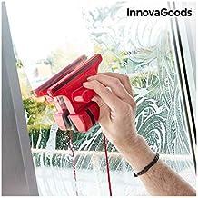 InnovaGoods Limpiacristales Magnético, Rojo, 5x15x11 cm