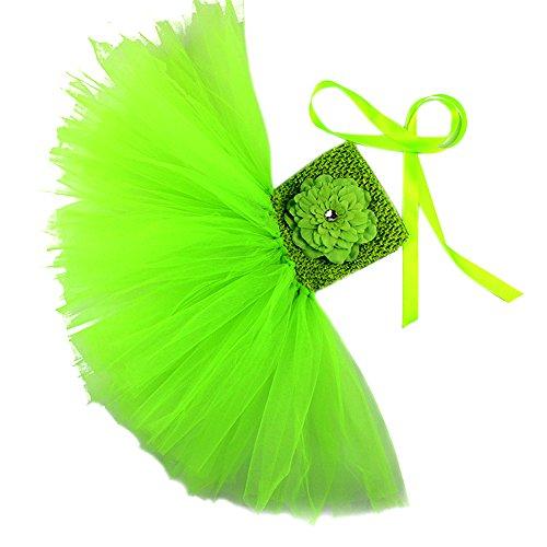 Honeystore Mädchen Spitze Prinzessin Rock Sommer Blumen Kleider für Baby Kleinkinder Kinder 0-2 Jahre alt Small Grün mit Päonien