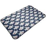 Osmykqe Blue Happy Sharks Doormat Floor Mat Non Slip Carpets for Front Door Kitchen Bedroom 19.5 x 31.5In