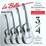 Labella FG134 Jeu de Cordes pour Guitare Classique 3/4 58 cm