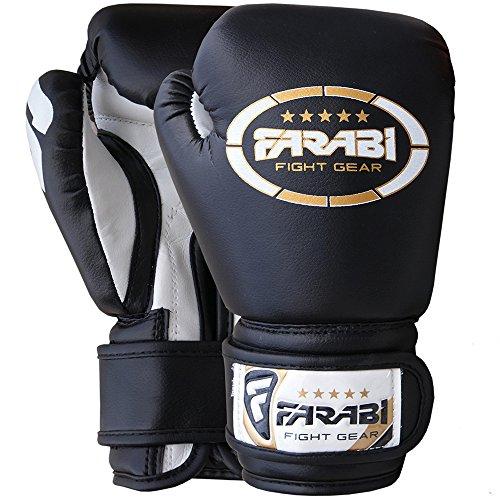 Kids boxing junior Boxhandschuhe, mma, muay thai, Kickboxen, Handschuhe, Boxsack training Boxhandschuhe 4 Farabi oz schwarz schwarz 4Oz Junior-handschuhe