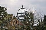 KUHEIGA Pavillon 10mm Eisen Rosenspalier Pergola Schwarz