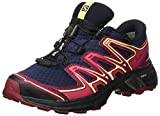 Salomon Damen Wings Flyte 2 GTX Trailrunning-Schuhe, blau (evening blue/beet red/sunny lime), Gr. 39 1/3