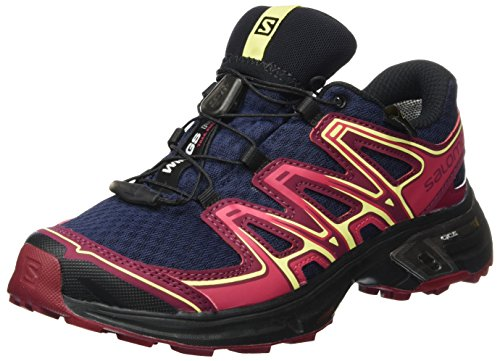 Salomon Damen Wings Flyte 2 GTX Trailrunning-Schuhe, Blau (Evening Blue/Beet Red/Sunny Lime), Gr. 42