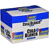 Imedio 6304671 - Caja de 12 colas, 40 g, color blanco