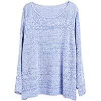 Tops, Pullovers, Suéteres, Manga Larga, Suéteres De Mujer, Regalos, Novias,Azul,Un tamaño