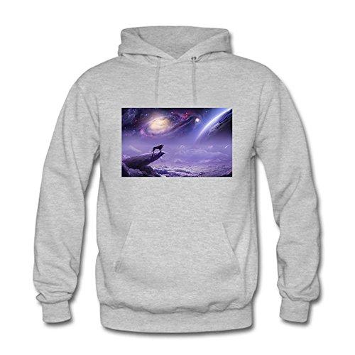 Womens Pullover Galaxy Nebula Space Print Stylish Hooded Sweatshirt E